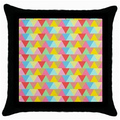 Triangle Pattern Black Throw Pillow Case