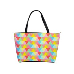 Triangle Pattern Large Shoulder Bag