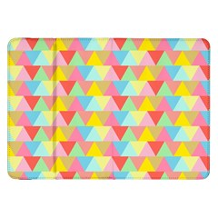 Triangle Pattern Samsung Galaxy Tab 8.9  P7300 Flip Case