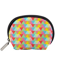 Triangle Pattern Accessory Pouch (Small)