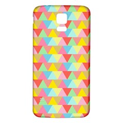 Triangle Pattern Samsung Galaxy S5 Back Case (White)