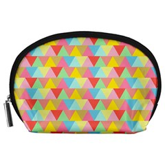 Triangle Pattern Accessory Pouch (Large)