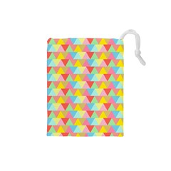 Triangle Pattern Drawstring Pouch (small)