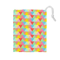 Triangle Pattern Drawstring Pouch (Large)
