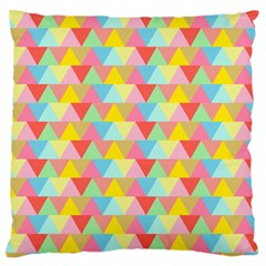 Triangle Pattern Large Flano Cushion Case (Two Sides)