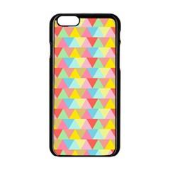 Triangle Pattern Apple iPhone 6 Black Enamel Case