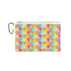 Triangle Pattern Canvas Cosmetic Bag (Small)