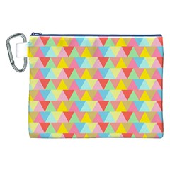 Triangle Pattern Canvas Cosmetic Bag (XXL)