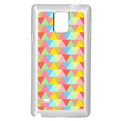 Triangle Pattern Samsung Galaxy Note 4 Case (white)
