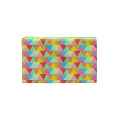 Triangle Pattern Cosmetic Bag (xs)