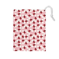 Spot The Ladybug Drawstring Pouch (large)