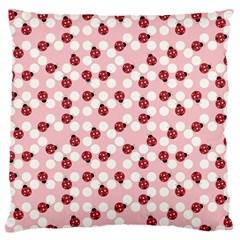 Spot the Ladybug Large Flano Cushion Case (One Side)