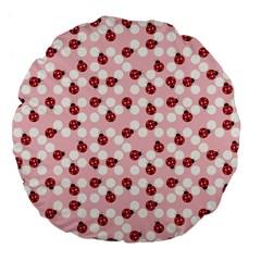 Spot the Ladybug Large 18  Premium Flano Round Cushion