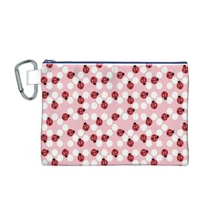 Spot the Ladybug Canvas Cosmetic Bag (Medium)