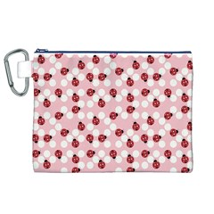 Spot the Ladybug Canvas Cosmetic Bag (XL)