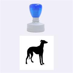 Greyhound standing rubber stamp