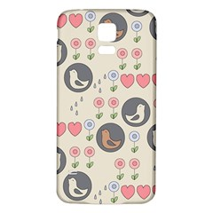 Love Birds Samsung Galaxy S5 Back Case (White)