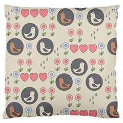 Love Birds Large Flano Cushion Case (Two Sides)