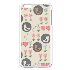 Love Birds Apple iPhone 6 Plus Enamel White Case