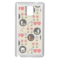 Love Birds Samsung Galaxy Note 4 Case (White)