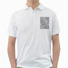 Garden In The Sky Men s Polo Shirt (white)
