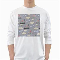 Garden in the Sky Men s Long Sleeve T-shirt (White)