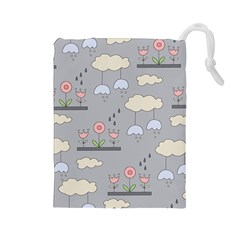 Garden in the Sky Drawstring Pouch (Large)
