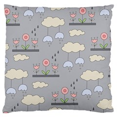 Garden In The Sky Large Flano Cushion Case (one Side)