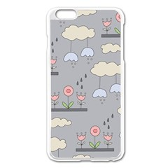 Garden in the Sky Apple iPhone 6 Plus Enamel White Case