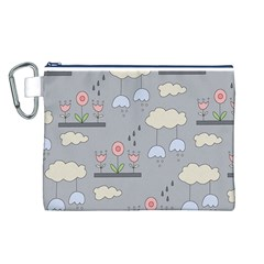 Garden in the Sky Canvas Cosmetic Bag (Large)
