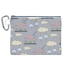 Garden In The Sky Canvas Cosmetic Bag (xl)