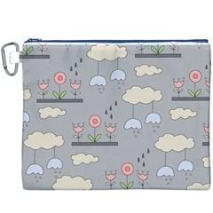 Garden in the Sky Canvas Cosmetic Bag (XXXL)