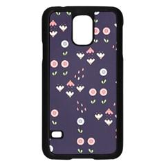 Summer Garden Samsung Galaxy S5 Case (Black)
