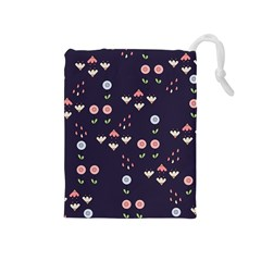 Summer Garden Drawstring Pouch (medium)