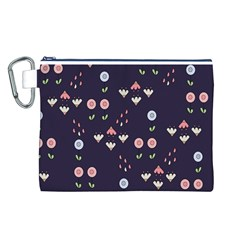 Summer Garden Canvas Cosmetic Bag (Large)