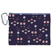 Summer Garden Canvas Cosmetic Bag (XL)