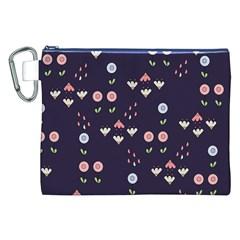 Summer Garden Canvas Cosmetic Bag (XXL)