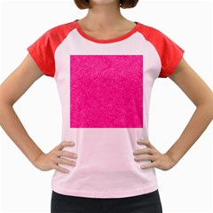 Abstract Stars In Hot Pink Women s Cap Sleeve T-Shirt (Colored)