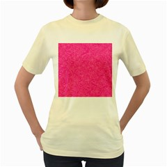 Abstract Stars In Hot Pink Women s T Shirt (yellow)