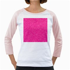 Abstract Stars In Hot Pink Women s Long Cap Sleeve T Shirt (white)