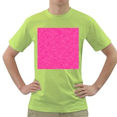 Abstract Stars In Hot Pink Men s T-shirt (Green)
