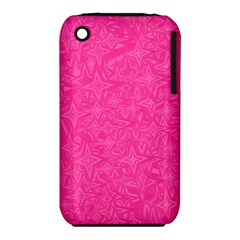 Abstract Stars In Hot Pink Apple iPhone 3G/3GS Hardshell Case (PC+Silicone)