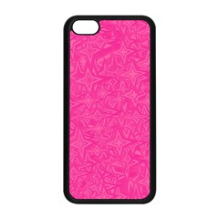 Abstract Stars In Hot Pink Apple iPhone 5C Seamless Case (Black)