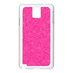 Abstract Stars In Hot Pink Samsung Galaxy Note 3 N9005 Case (White)