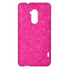 Abstract Stars In Hot Pink HTC One Max (T6) Hardshell Case