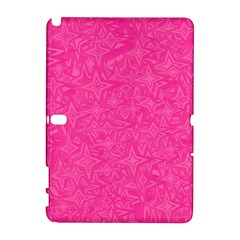 Abstract Stars In Hot Pink Samsung Galaxy Note 10.1 (P600) Hardshell Case