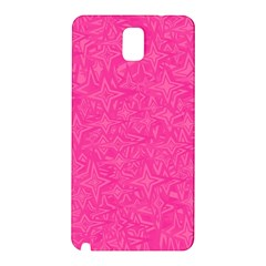Abstract Stars In Hot Pink Samsung Galaxy Note 3 N9005 Hardshell Back Case
