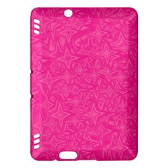 Abstract Stars In Hot Pink Kindle Fire HDX Hardshell Case