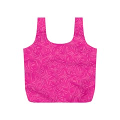 Abstract Stars In Hot Pink Reusable Bag (S)