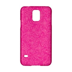 Abstract Stars In Hot Pink Samsung Galaxy S5 Hardshell Case